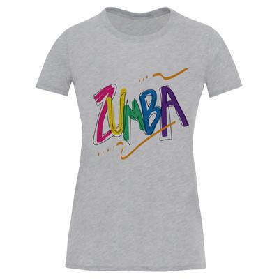 تی شرت آستین کوتاه زنانه طرح zumba کد S538