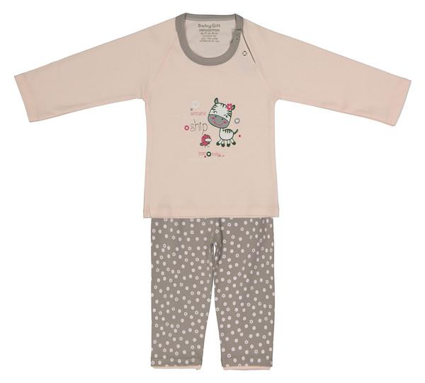 ست تی شرت و شلوار نوزادی دخترانه طرح گاو و جوجه کد 700