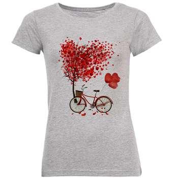 تی شرت زنانه طرح دوچرخه کد B172