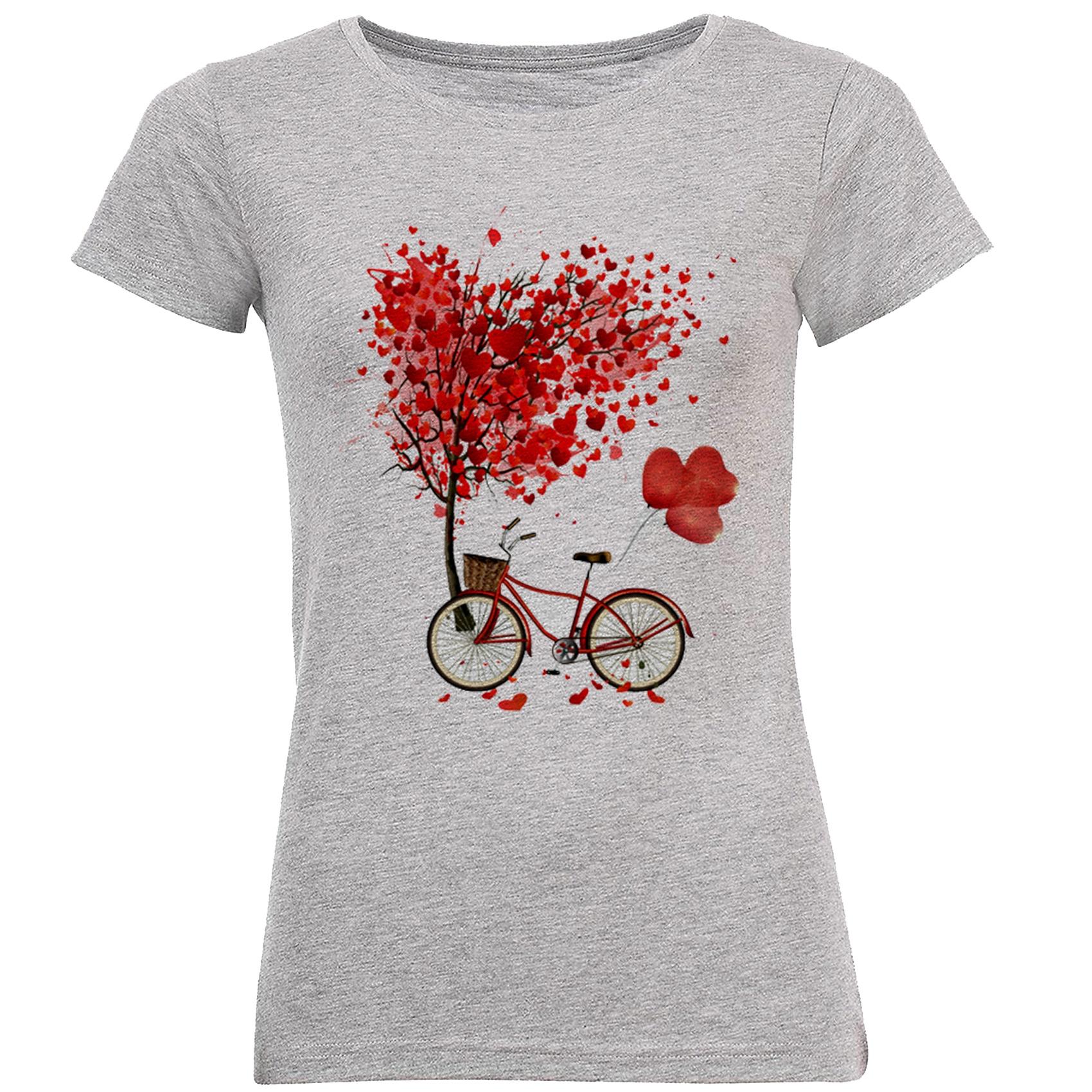 Photo of تی شرت زنانه طرح دوچرخه کد B172