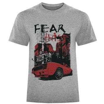 تی شرت مردانه طرح Fear کد S323