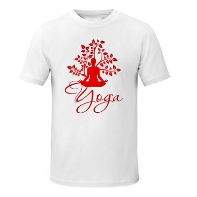 تصویر تی شرت زنانه طرح یوگا کد asd083