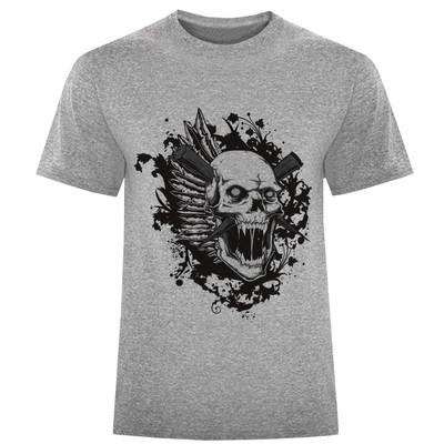 تی شرت مردانه طرح اسکلت کد S334