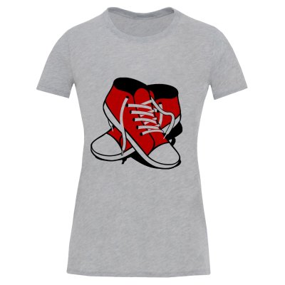 تصویر تی شرت آستین کوتاه زنانه طرح کفش کد S570