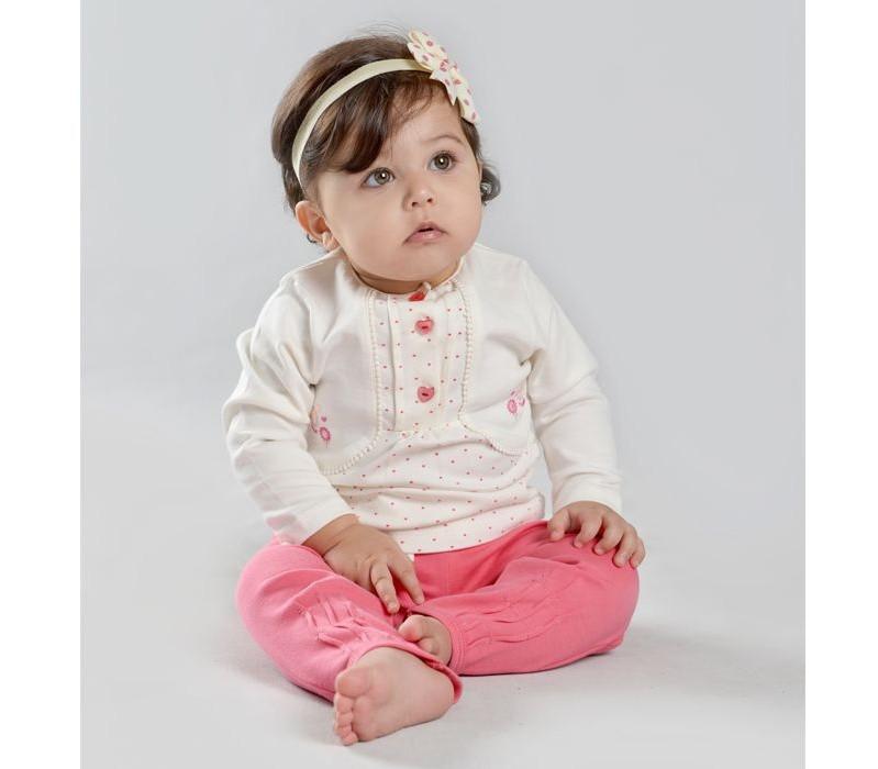 ست تی شرت و شلوار نوزادی دخترانه نیلی کد 001