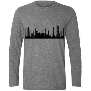تی شرت آستین بلند مردانه طرح شهر کد S445