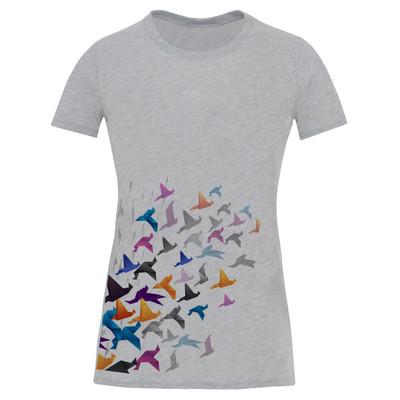 تی شرت آستین کوتاه زنانه طرح پرنده کد S563