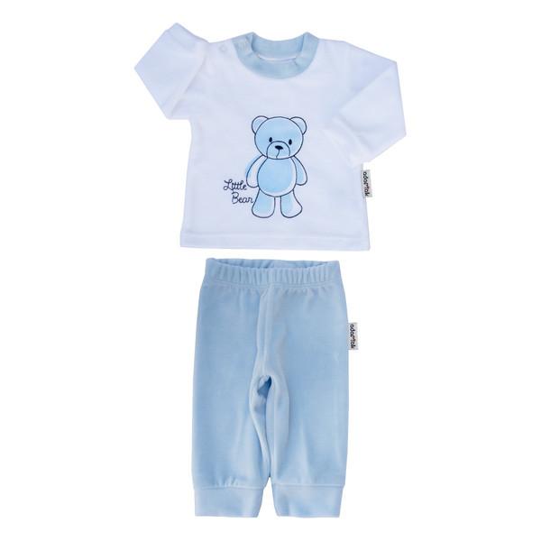 ست تیشرت و شلوار نوزاد آدمک کد 1180011 رنگ آبی