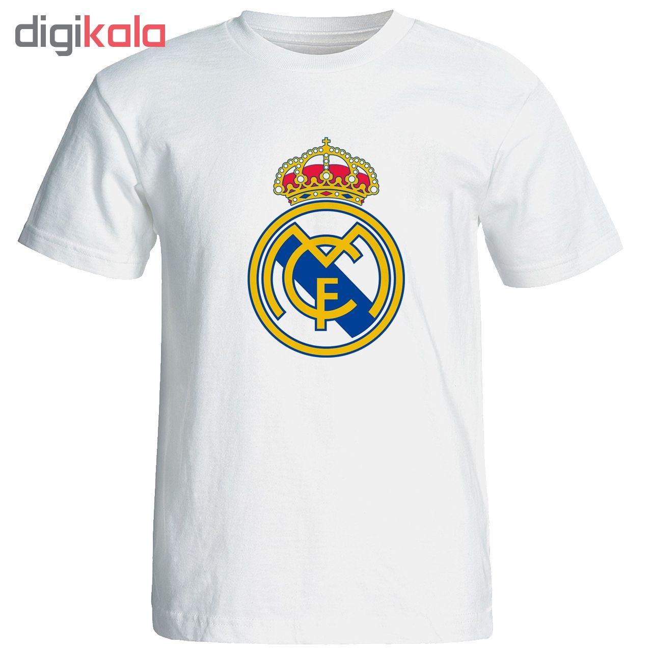 تیشرت آستین کوتاه مردانه طرح رئال مادرید کد 9333 main 1 1