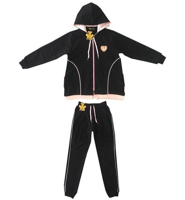 ست سویشرت و شلوار دخترانه خرس کوچولو مدل Heart کد G01