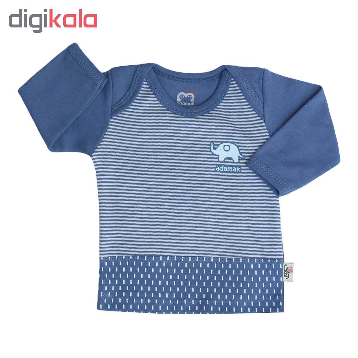 ست 3 تکه لباس نوزادی پسرانه آدمک طرح فیل