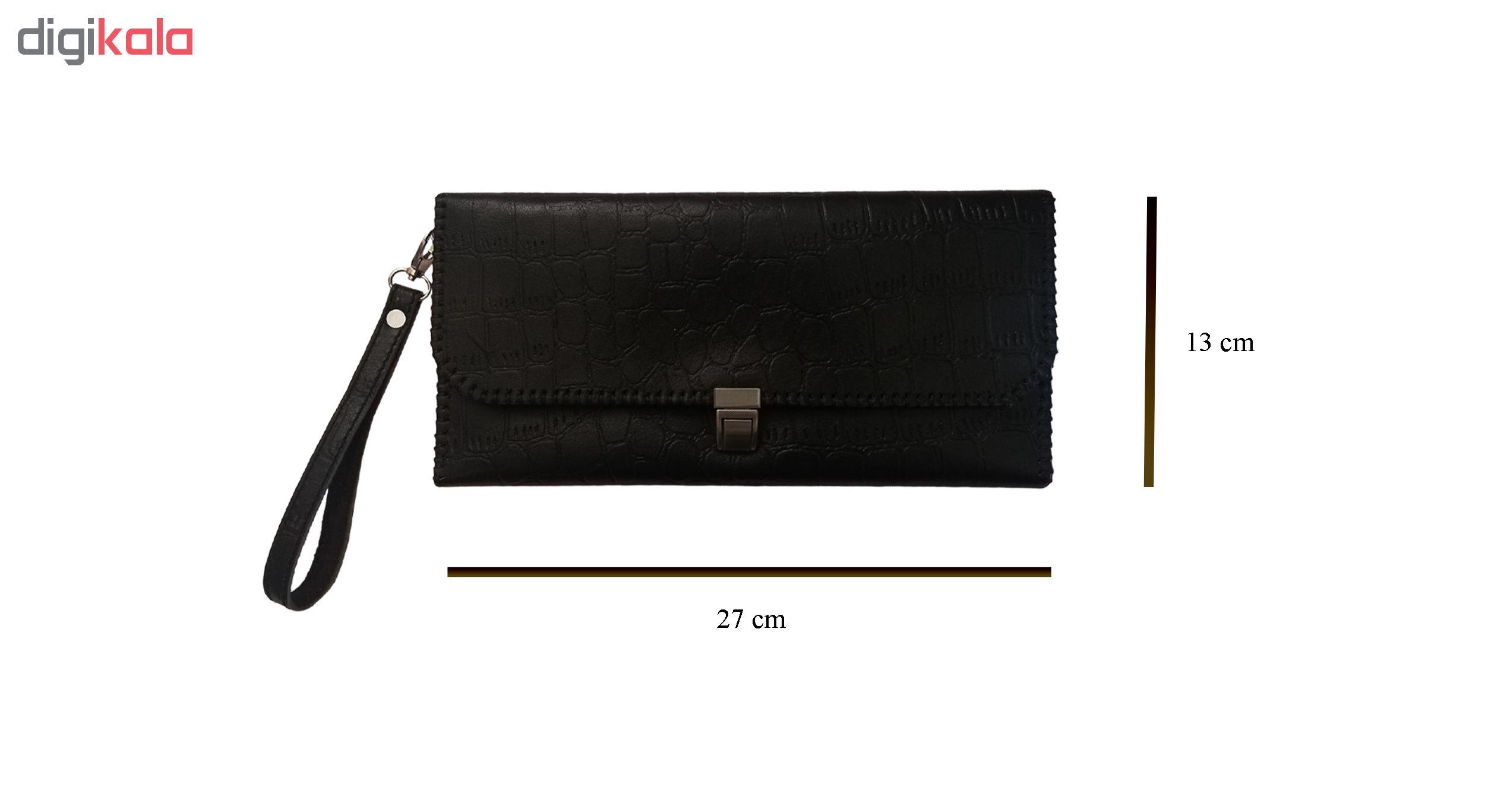 ست کیف دسته چک و کیف پول چرمی کد MRK3