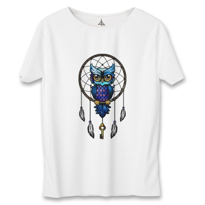 تی شرت زنانه به رسم طرح جغد کد 5552