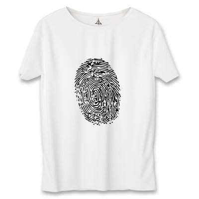 تی شرت زنانه به رسم طرح اثر انگشت کد 5553