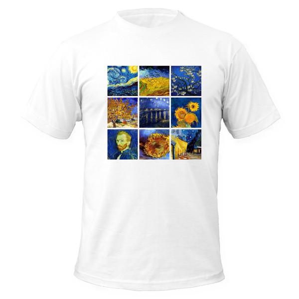 تی شرت آستین کوتاه مردانه مدل ونگوگ کد A115