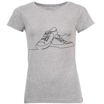 تصویر تی شرت زنانه طرح کتونی کد B194