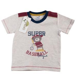 تی شرت آستین کوتاه نوزادی پسرانه اونیکس طرح بیسبال کد 017