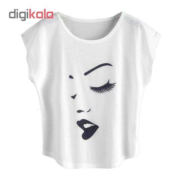 تیشرت زنانه طرح لب کد 106