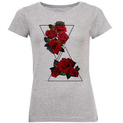 تی شرت زنانه طرح گل رز کد B198