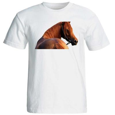 تصویر تیشرت آستین کوتاه زنانه طرح اسب کد 37166