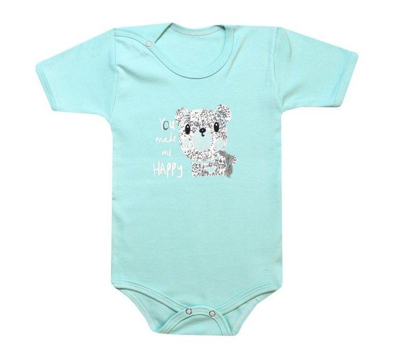 ست بادی آستین کوتاه و شلوار نوزادی طرح خرس کد 10-11