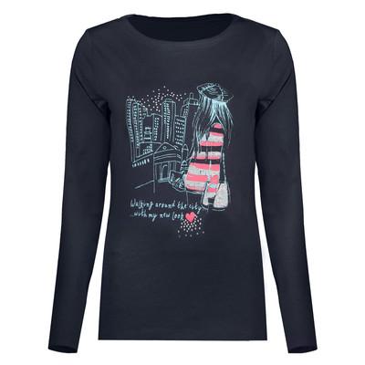 تی شرت آستین بلند زنانه کد af0012