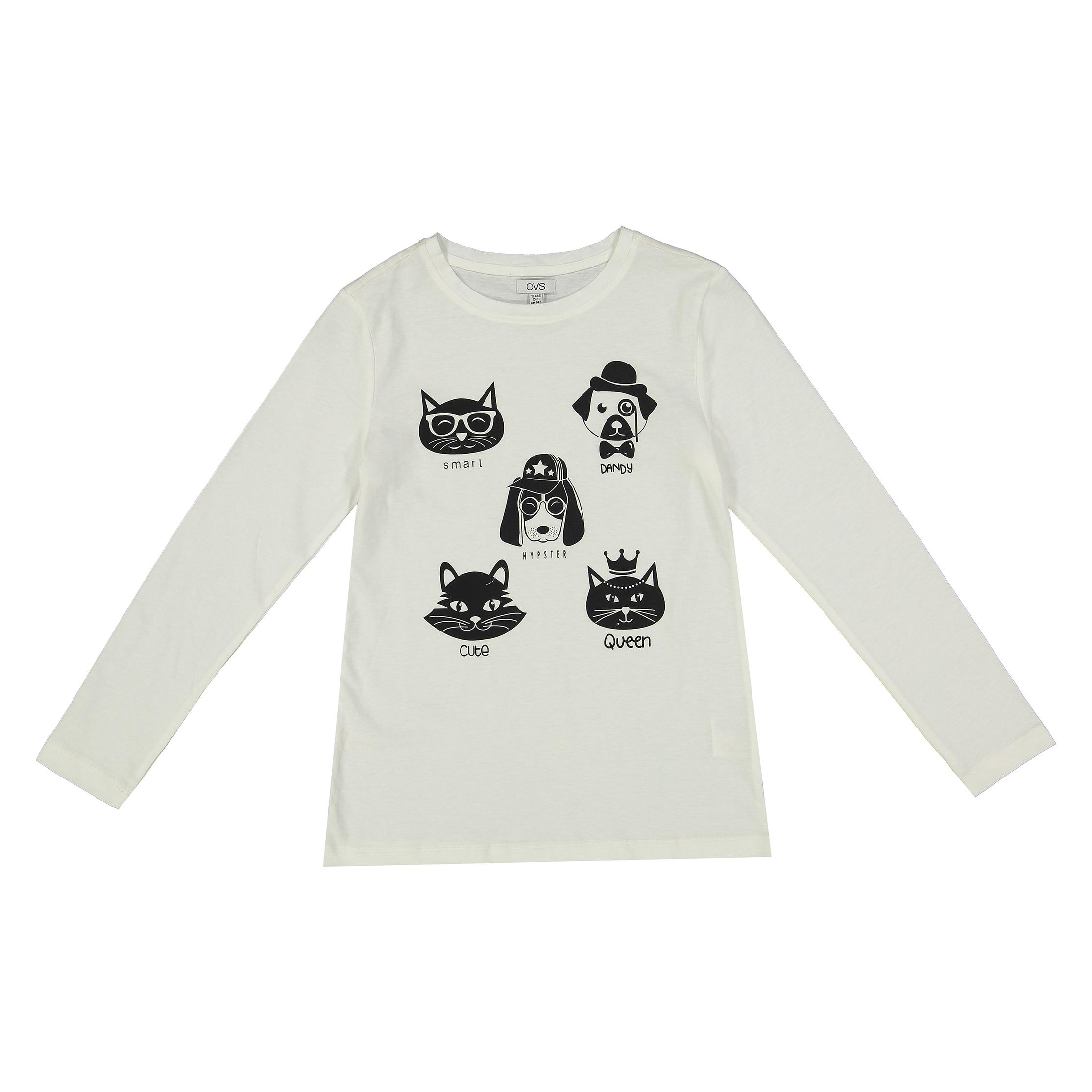 تی شرت دخترانه او وی اس مدل 1511948