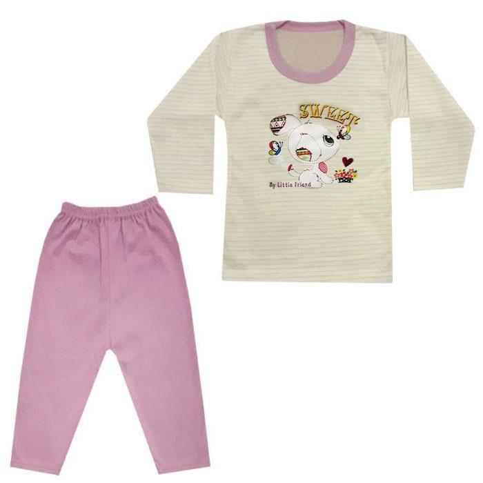 ست تی شرت و شلوار نوزادی کد B-01