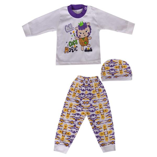 ست 3 تکه لباس نوزادی کد 14-820