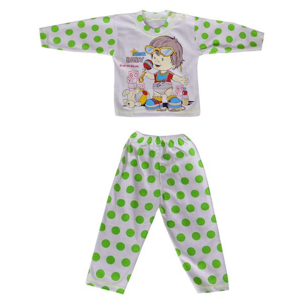 ست تی شرت و شلوار نوزادی کد 03-818