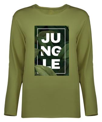 Photo of تی شرت آستین بلند زنانه طرح جنگل کد 8660