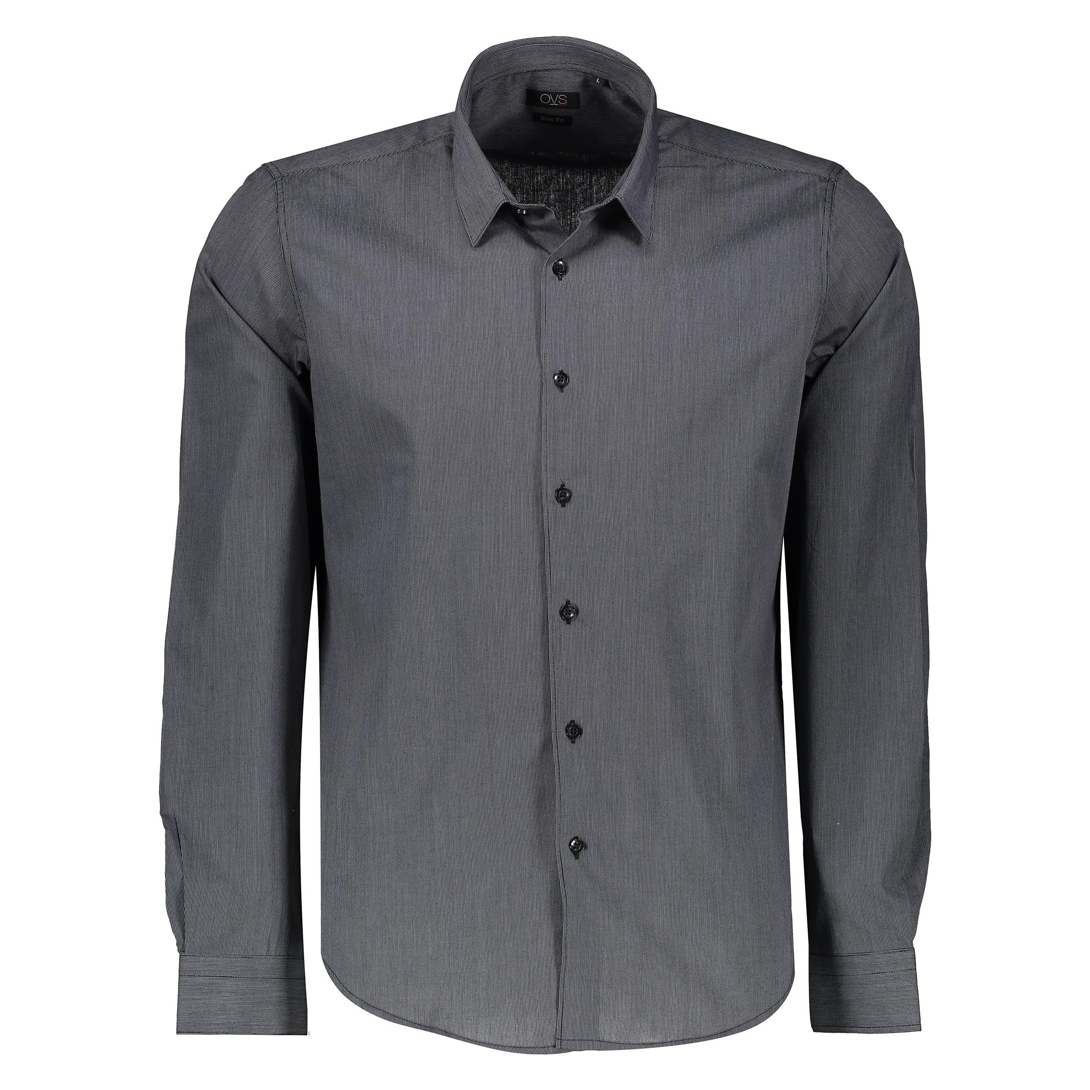 پیراهن مردانه او وی اس مدل 03375238-BLACK-STRIPED GREY0