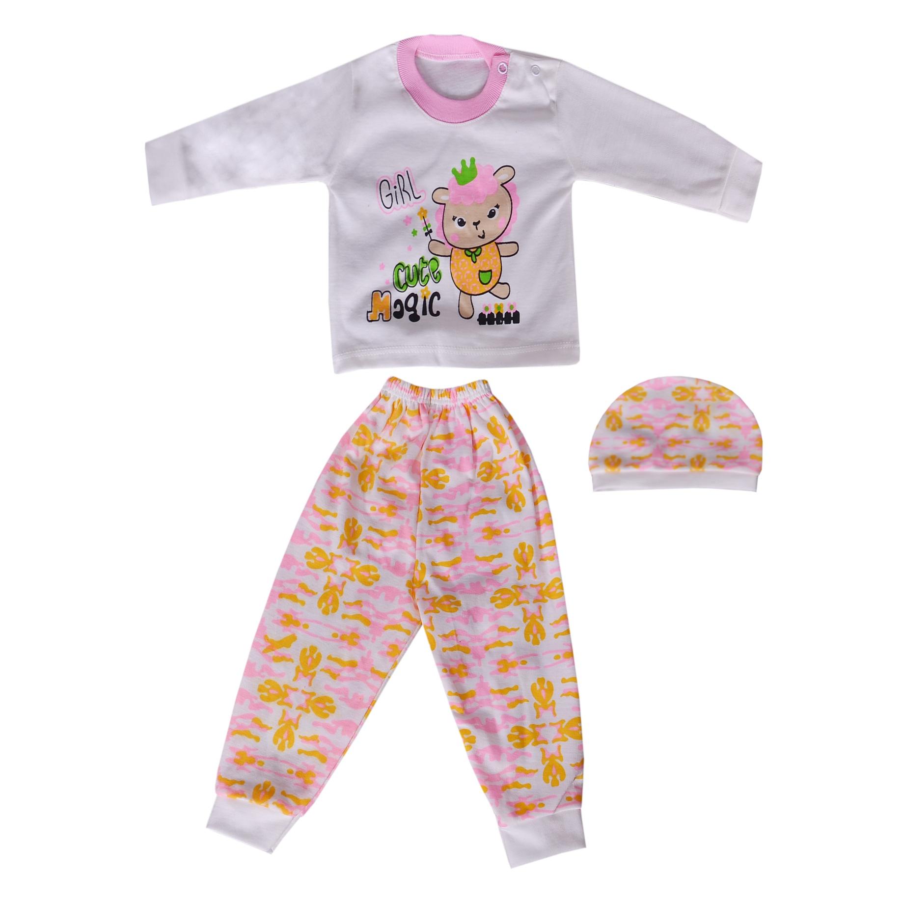 ست 3 تکه لباس نوزادی کد 06-820
