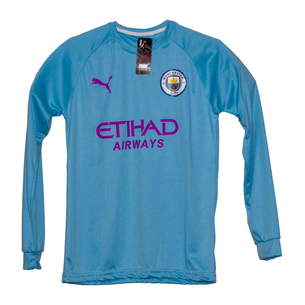 تی شرت ورزشی پسرانه طرح منچستر سیتی کد 09