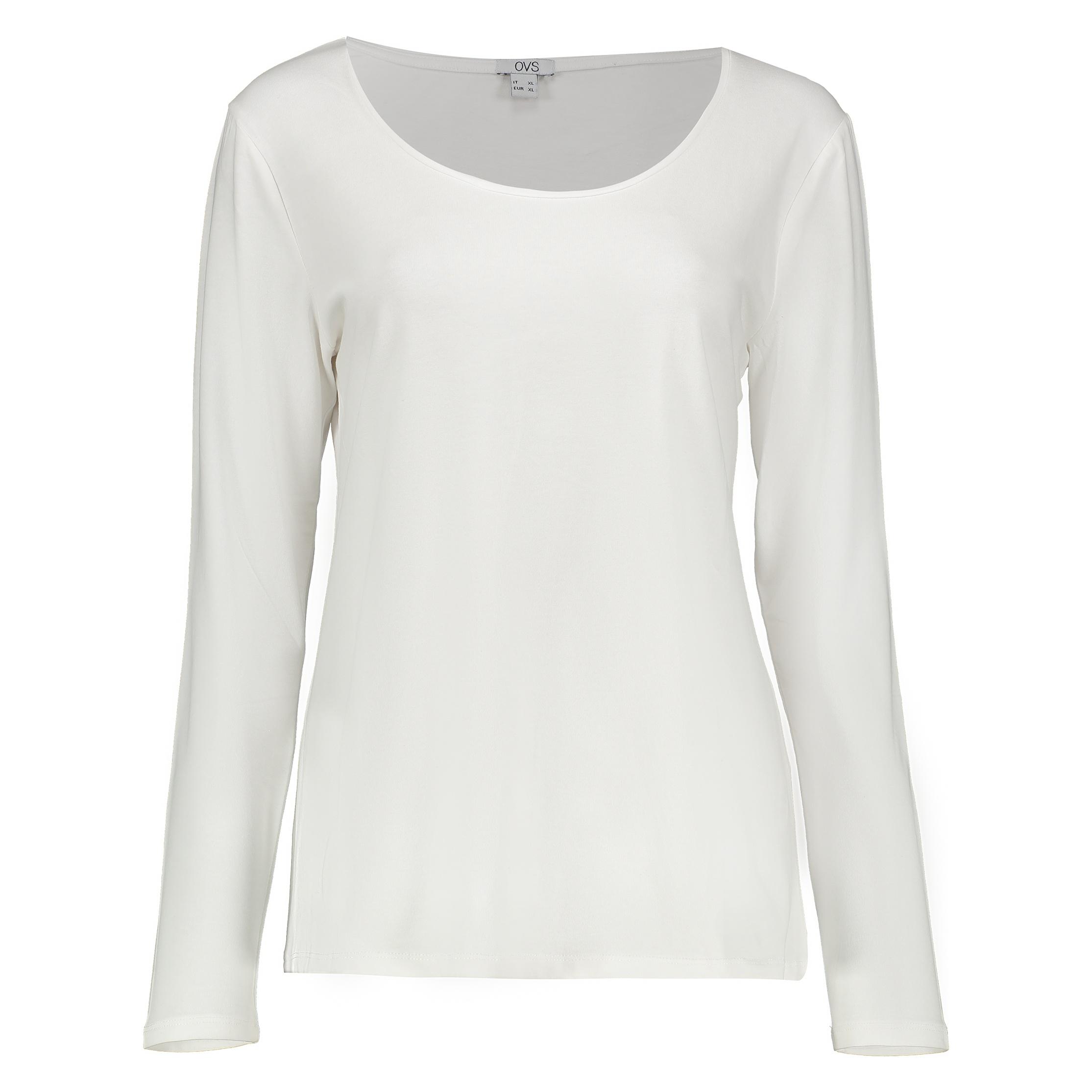 تی شرت زنانه او وی اس مدل 009364475-WHITE