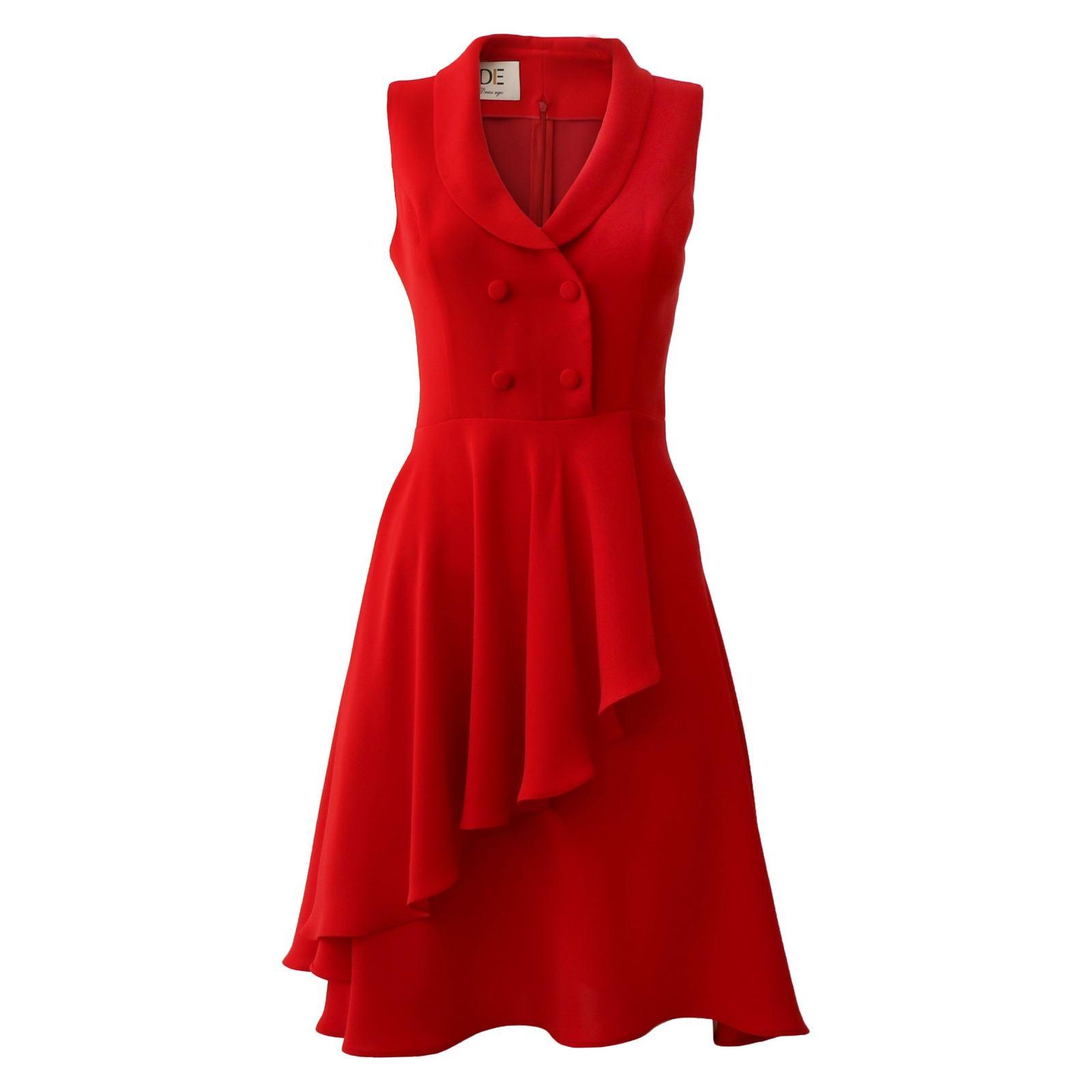 پیراهن زنانه درس ایگو کد 1010018 رنگ قرمز -  - 3