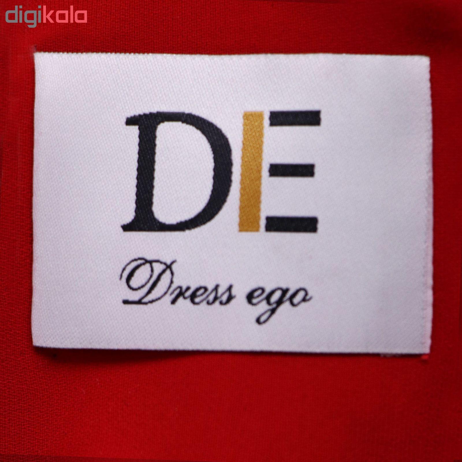 پیراهن زنانه درس ایگو کد 1010018 رنگ قرمز -  - 6