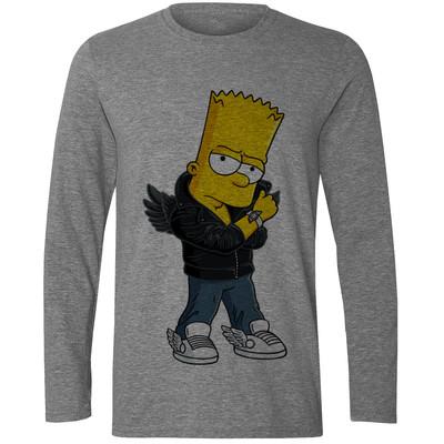 تصویر تی شرت آستین بلند مردانه طرح  سیمپسون کد S504