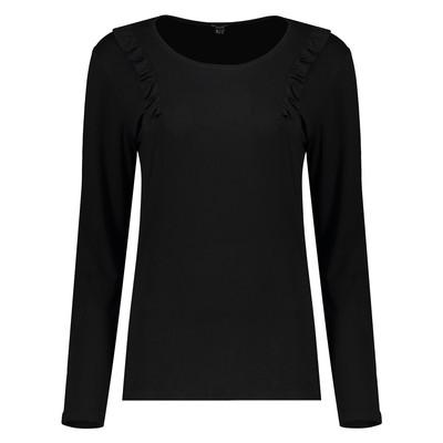 تی شرت زنانه او وی اس مدل 004817951-BLACK