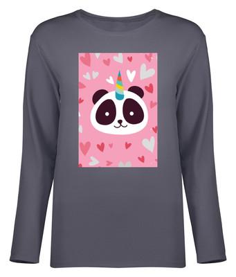 تی شرت آستین بلند زنانه طرح پاندا کد 8720