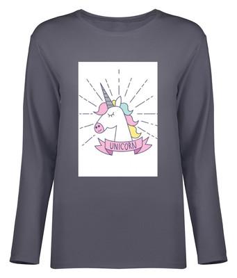 Photo of تی شرت آستین بلند زنانه طرح یونیکورن کد 8721