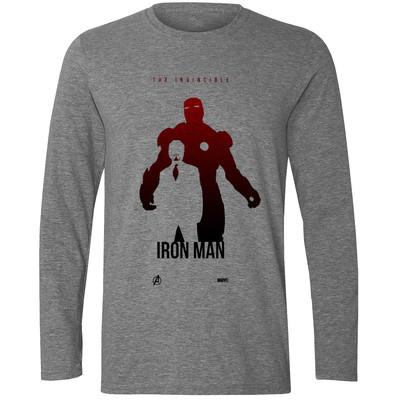 تی شرت آستین بلند مردانه طرح Iron Man کد S526