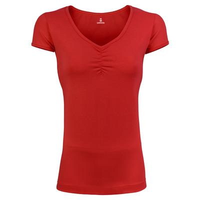 تی شرت زنانه ساروک مدل TZSCHNK02 رنگ قرمز