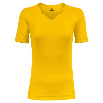 تصویر تی شرت زنانه ساروک مدل TZYDF09 رنگ زرد