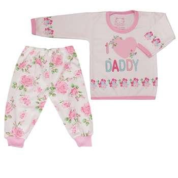 ست تیشرت و شلوار نوزادی دخترانه کد SHTG001
