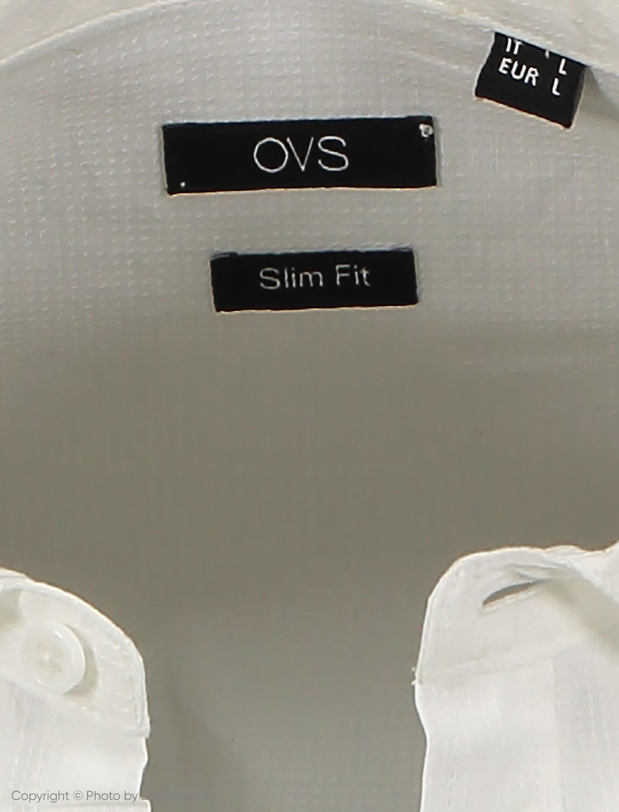 پیراهن مردانه او وی اس مدل 003375506-WHITE
