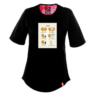 تی شرت زنانه کارزان کد KZ-TS-WB-82