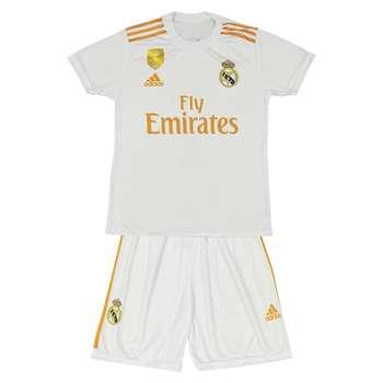ست پیراهن و شورت ورزشی پسرانه طرح رئال مادرید مدل هازارد کد 0010
