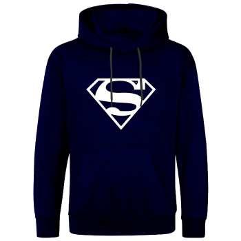 هودی مردانه طرح سوپرمن کد S27 رنگ سرمه ای