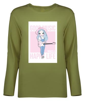 تی شرت آستین بلند زنانه کد 9070